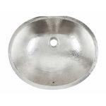 top view of pavlov undermount nickel bathroom sink