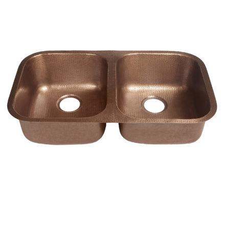 kandinsky undermount 16-gauge copper kitchen sink