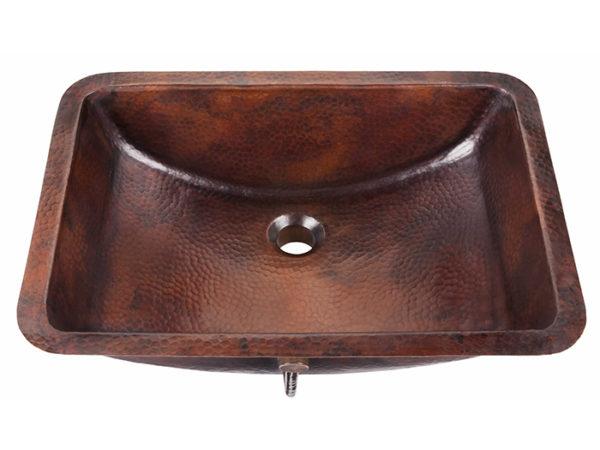 curie undermount copper bathroom sink