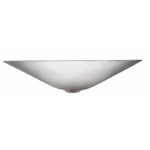 front view of mendel vessel hand hammered nickel bathroom sink