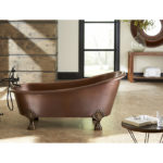 fully installed heisenberg claw foot copper bathtub
