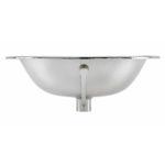 front view of dalton drop-in nickel bathroom sink