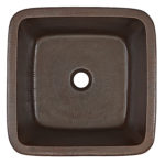Greco Copper Sink Top View