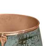 close-up of nobel vessel copper bathroom sink rounded rim