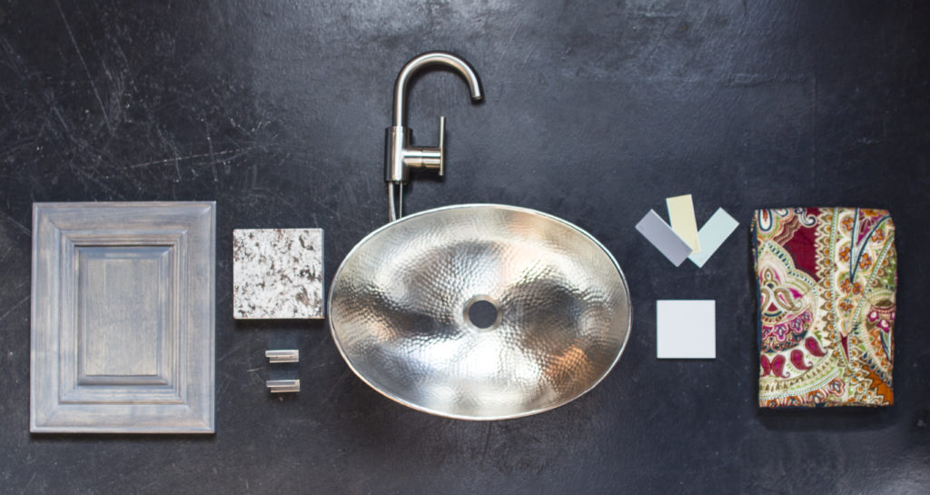 hobbes hand hammered nickel bathroom sink with design kit