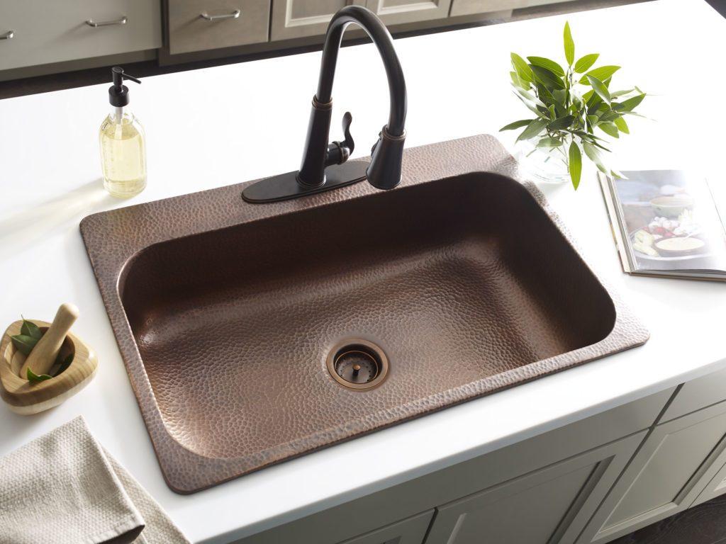 bronze kitchen sink drop in