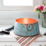 nobel copper vessel bathroom sink with matching faucet