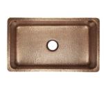 top view of david undermount 16-gauge copper kitchen sink