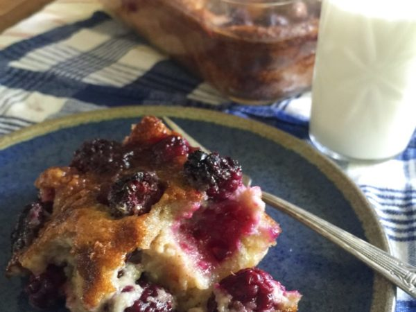 blackberry custard cake recipe