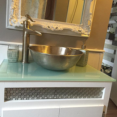 8 Bohr Nickel Vessel Bath Sink
