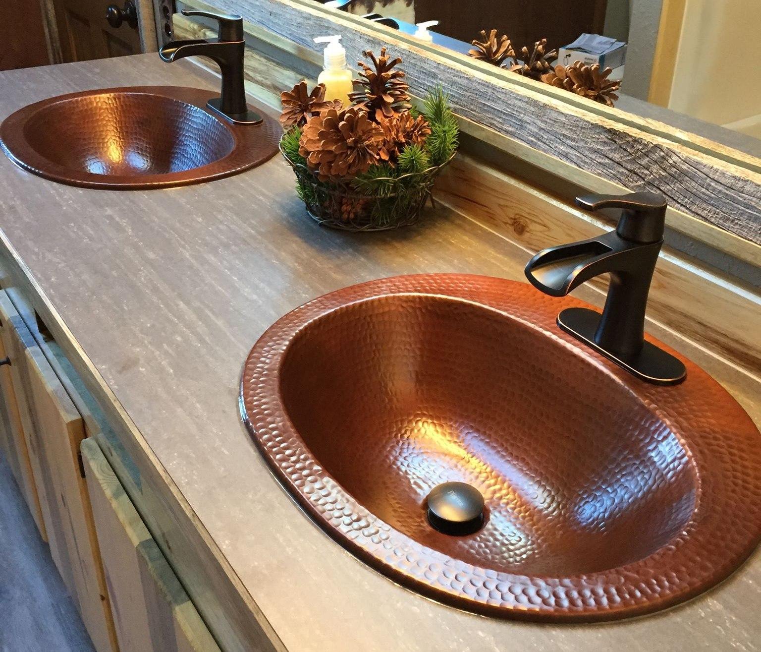 Copper sink bathroom