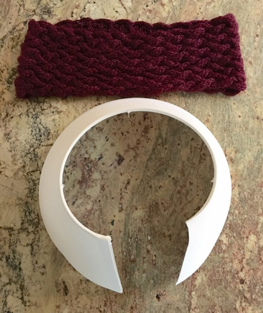 Holiday how to small tree skirt diy sinkology now cut the bottom wire ring of the shade switch to scissors and cut the actual shade all the way up to the top wire ring keyboard keysfo Image collections