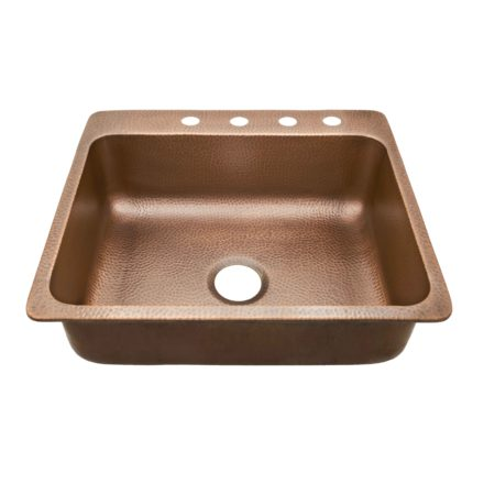 Rosa 4 Holes Copper Sink