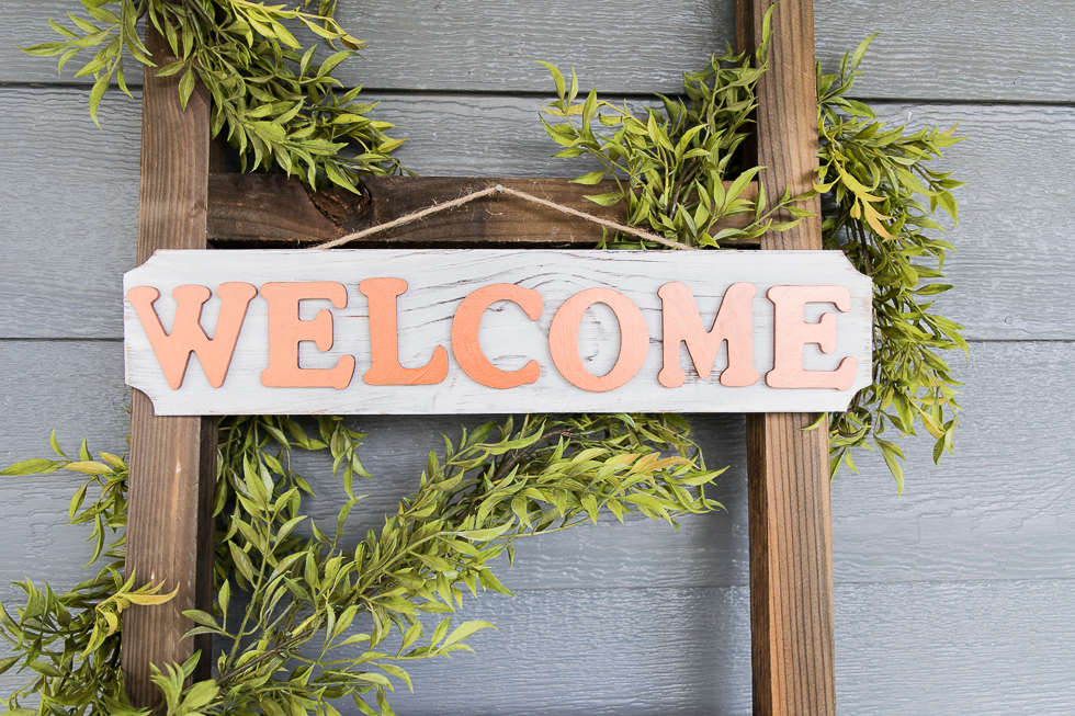Welcome The New Year Diy Welcome Sign Craft Sinkology