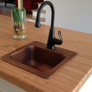 The Seurat Copper Bar And Prep Sink: