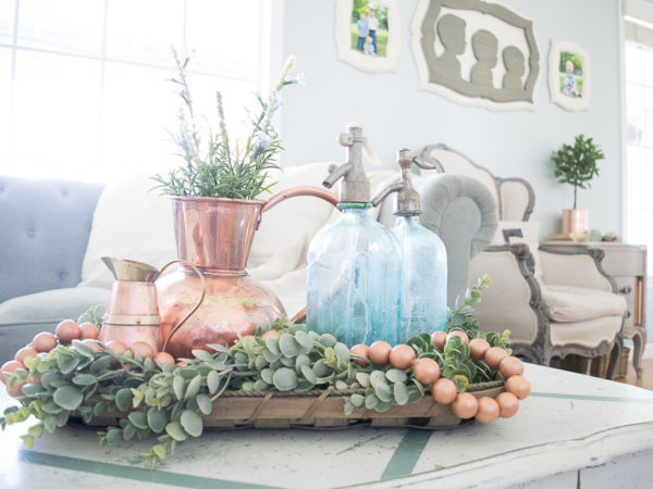 Decorating for Spring with Copper