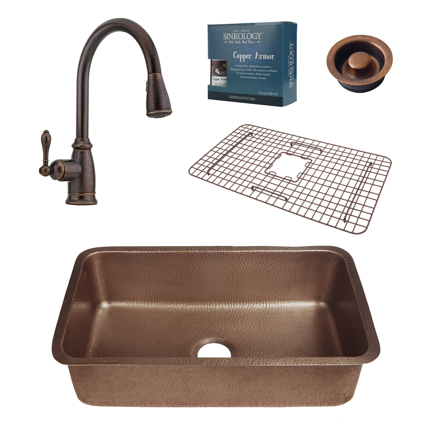 Orwell All In One Undermount Sink And Canton Faucet Kit