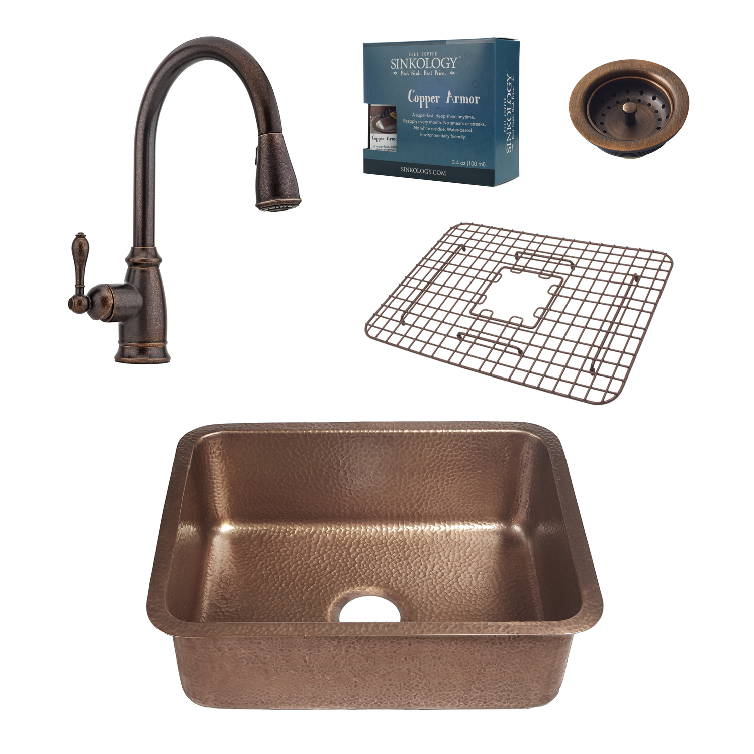 Renoir All In e Sink and Canton Faucet Kit Basket Strainer