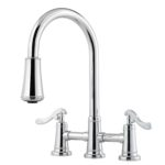 pull down bridge faucet