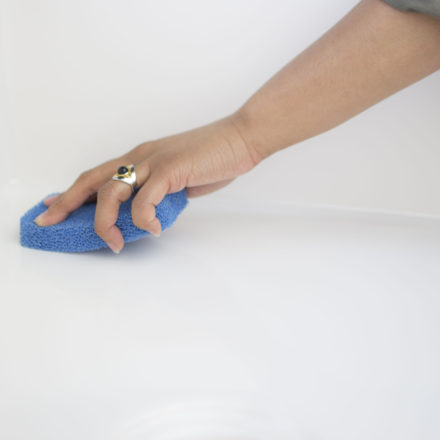 cleaning fireclay kitchen sink