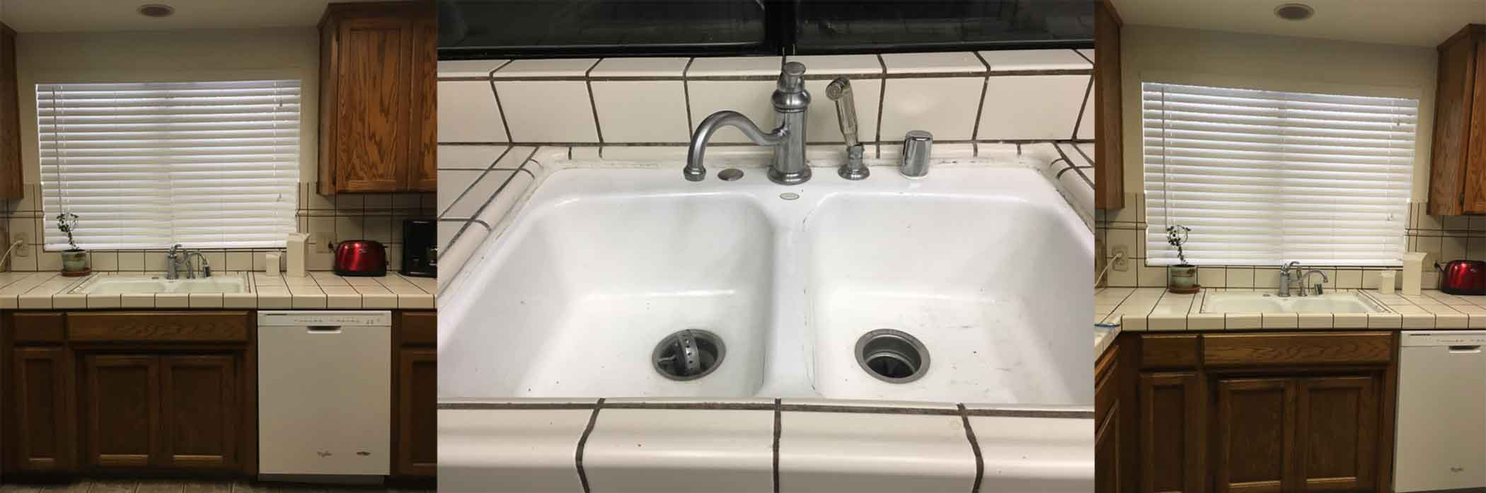 Before And After Rockwell Copper Double Basin Farmhouse Sink Sinkology