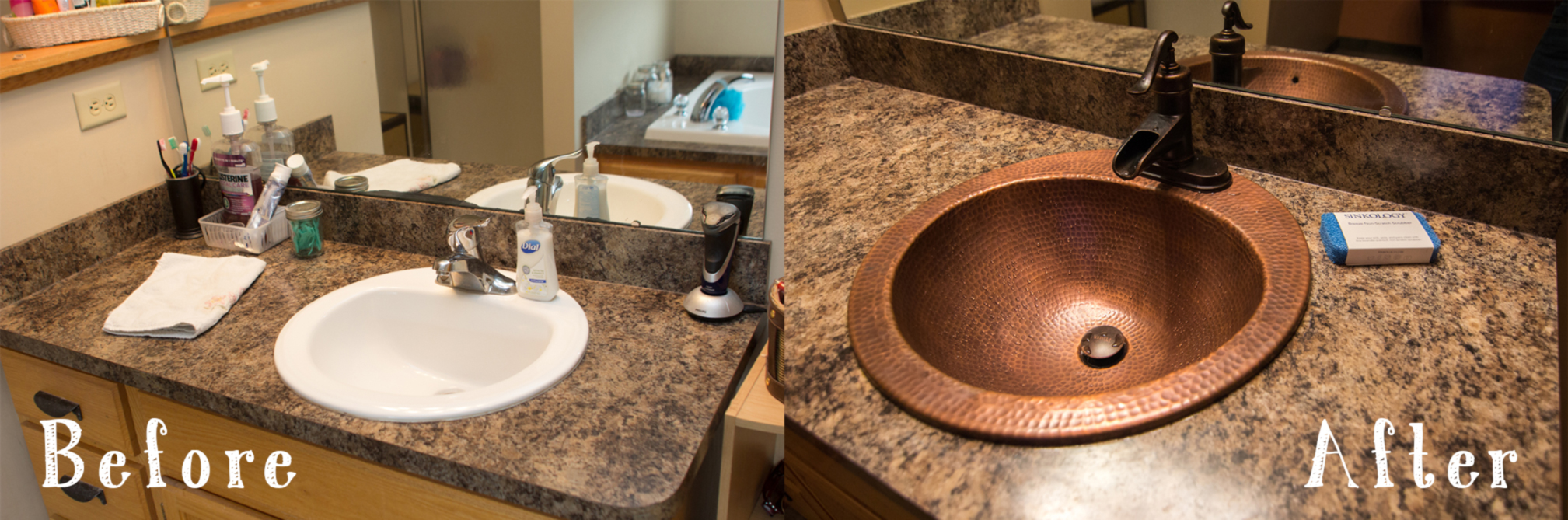 Picture of: Before And After A Copper Bathroom Duet Sinkology
