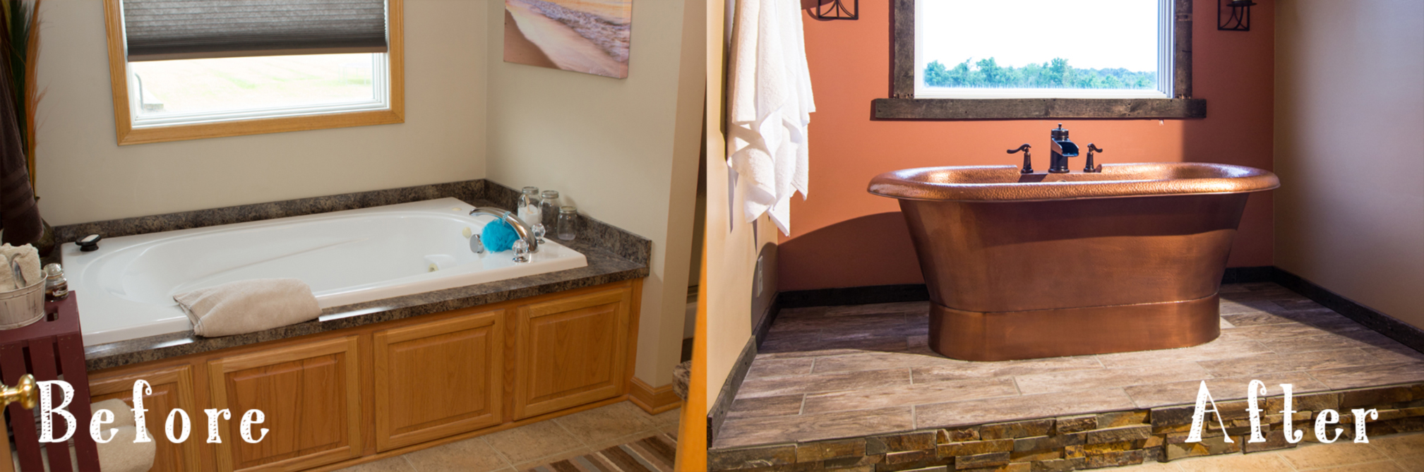 Before and After: A Copper Bathroom Duet - Sinkology