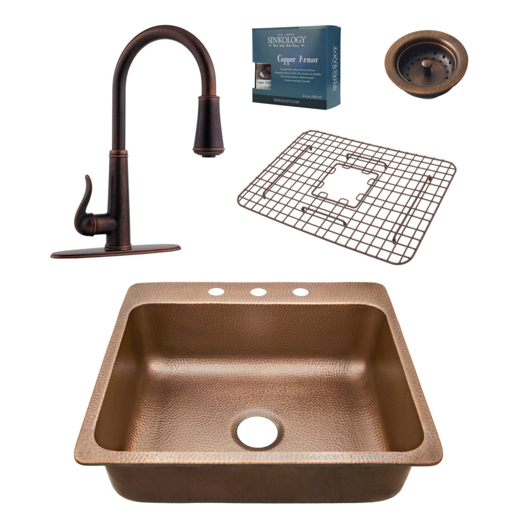 Kitchen Sink Bar Drop In With Faucet Combo