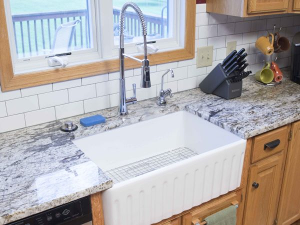 Before and After: A New Fireclay Farmhouse Kitchen Sink