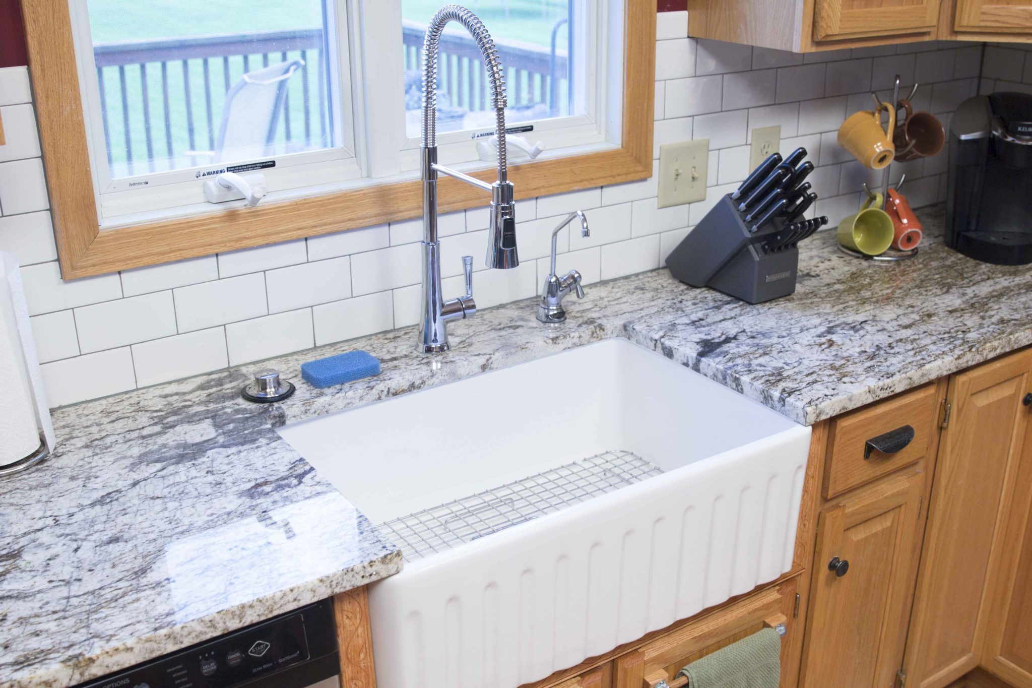 Before And After A New Fireclay Farmhouse Kitchen Sink