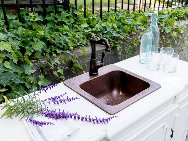 A DIY Outdoor Bar Sink