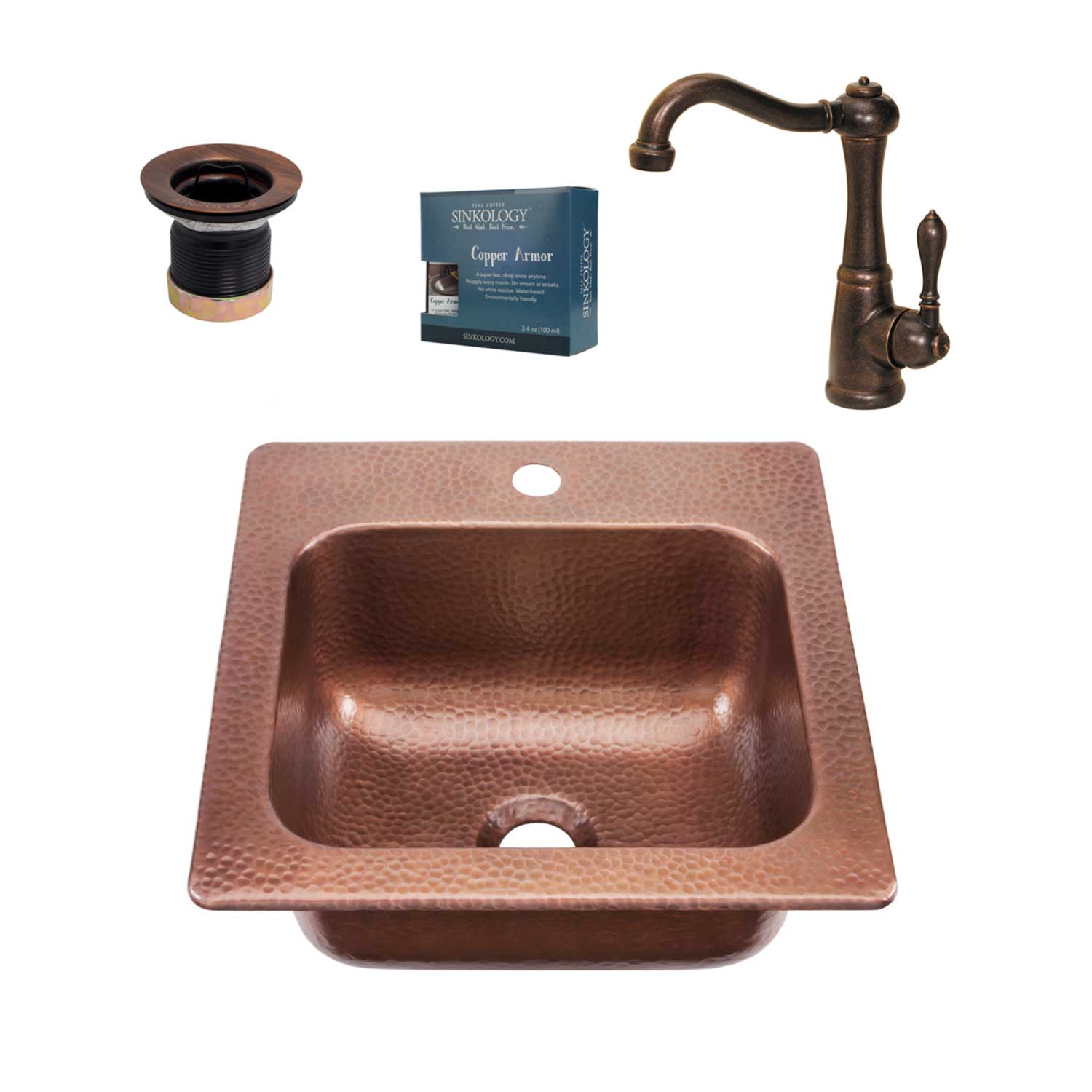 Seurat Copper Bar And Prep Kitchen Sink Kit By Sinkology
