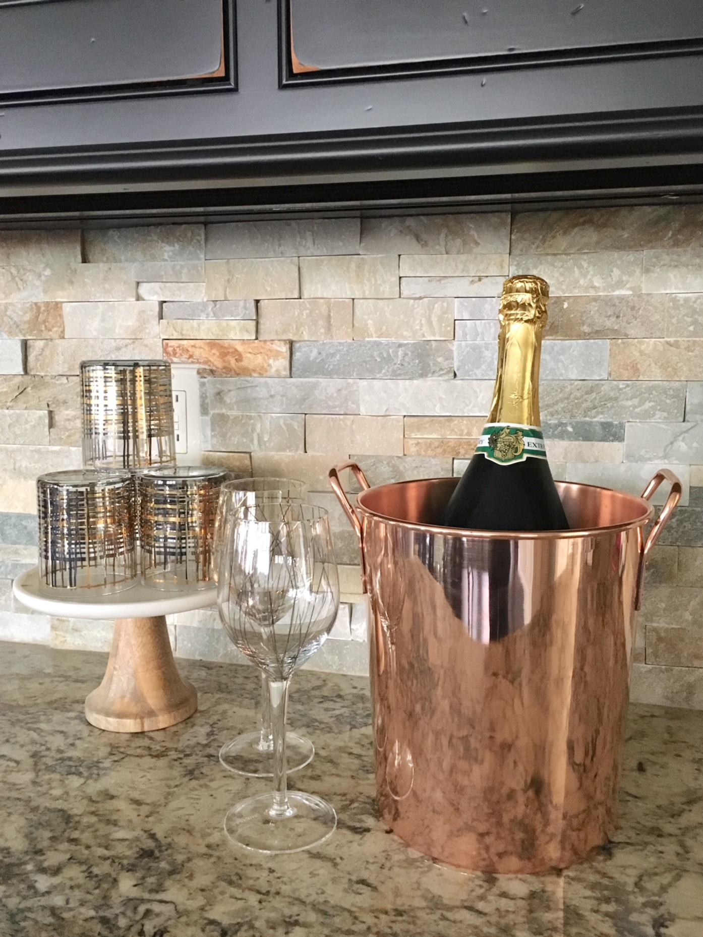 solid copper ice bucket