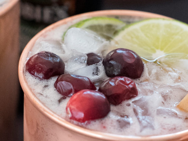 Holiday Cranberry Mule Cocktail Recipe