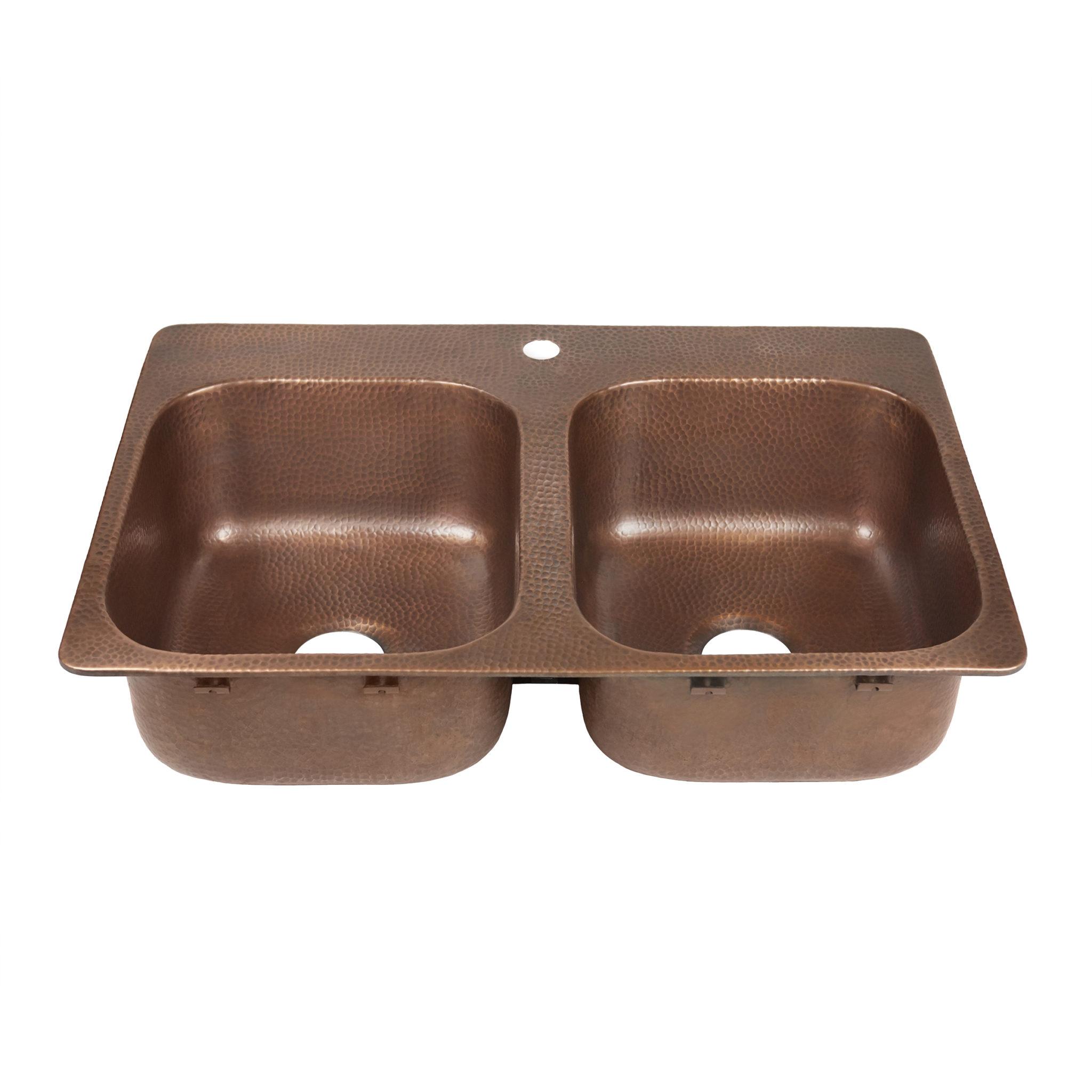 Copper Kitchen Drop-In Sinks by Sinkology