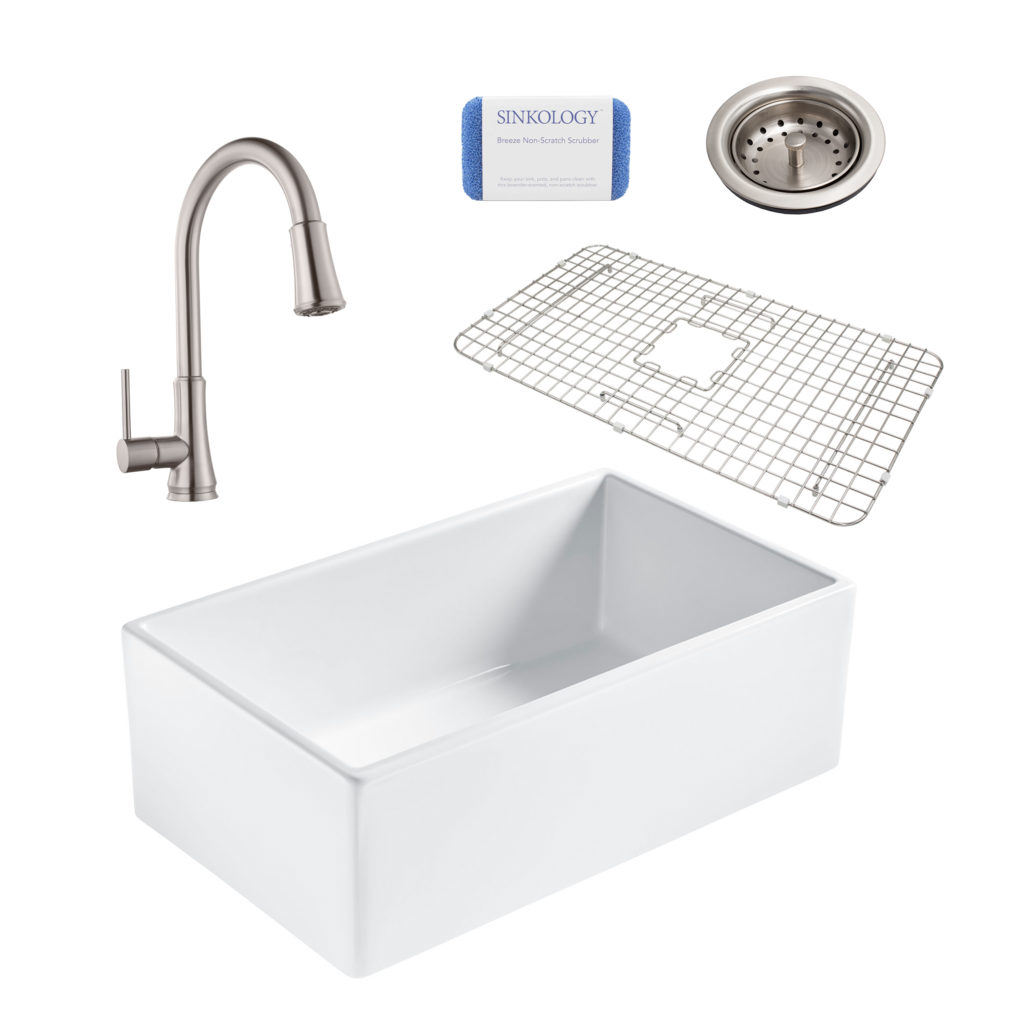 Bradstreet Ii All In One Fireclay Sink And Stainless
