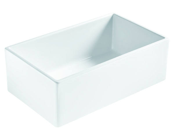bradstreet ll fireclay sink at an angle