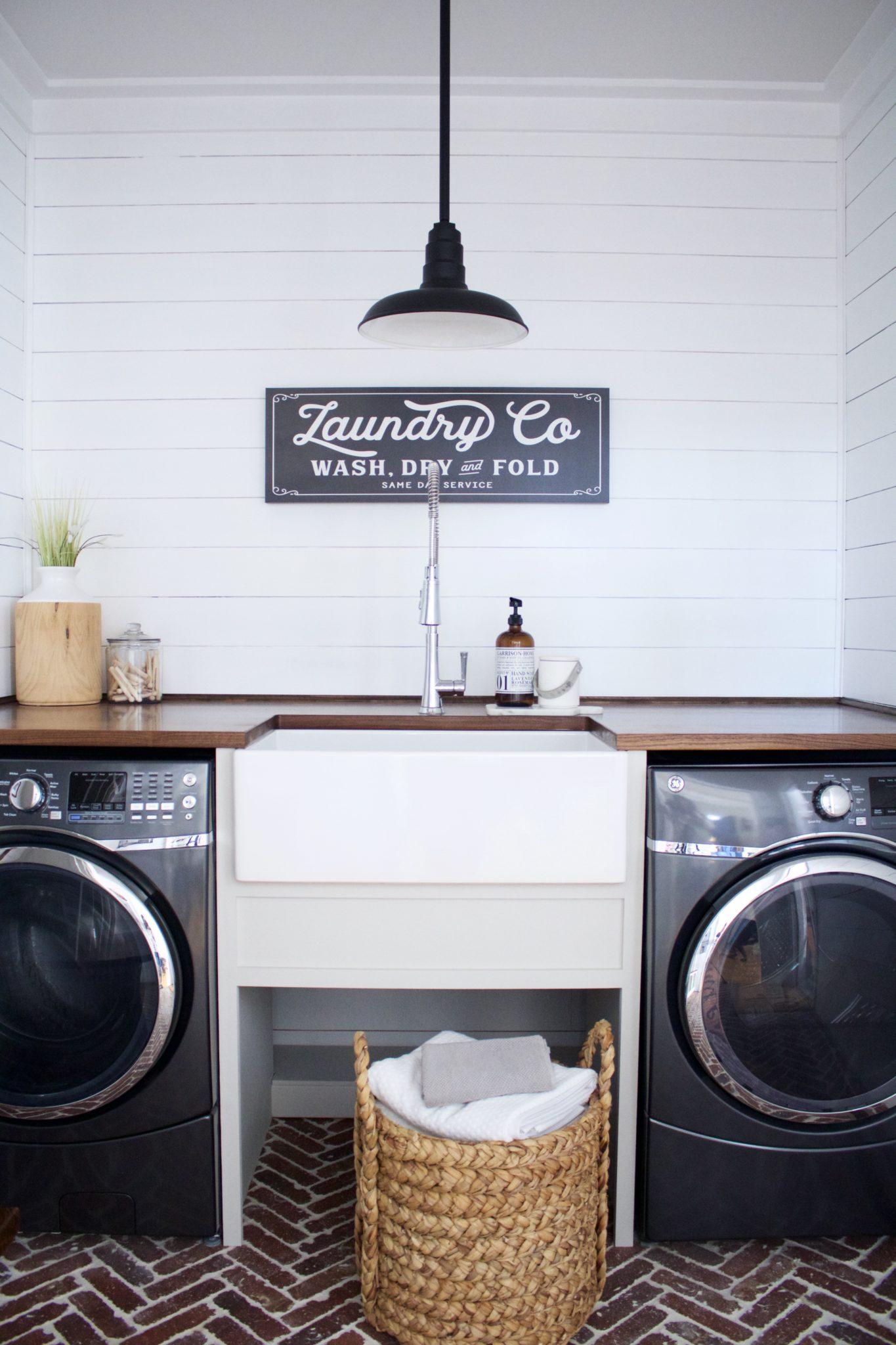 Laundry Room With Bradstreet Ii Fireclay Sink Before After Sinkology