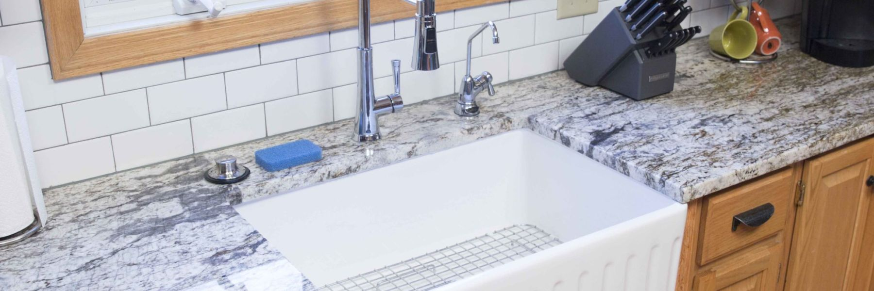 How to Install a Fireclay Farmhouse Kitchen Sink: The Wheatley ...