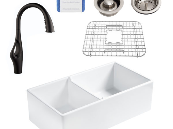 all-in-one farmhouse sink kit