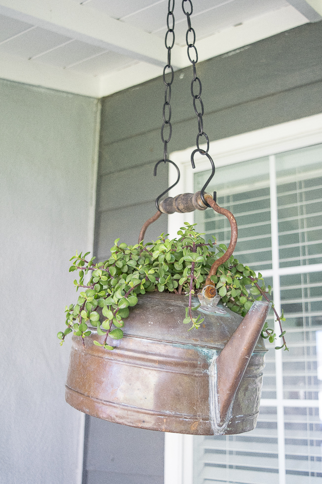 hanging-copper-pot-planter