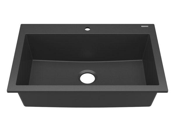 sinkology granite kitchen sink matte black