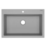 sinkology granite kitchen sink top view