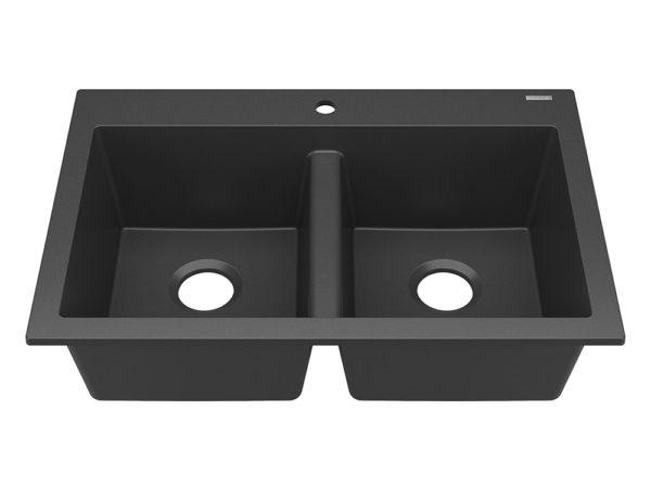 sinkology double bowl granite kitchen sink photo