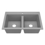 sinkology granite composite sink matte gray