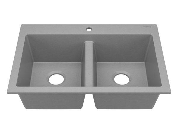 sinkology granite composite sink matte gray