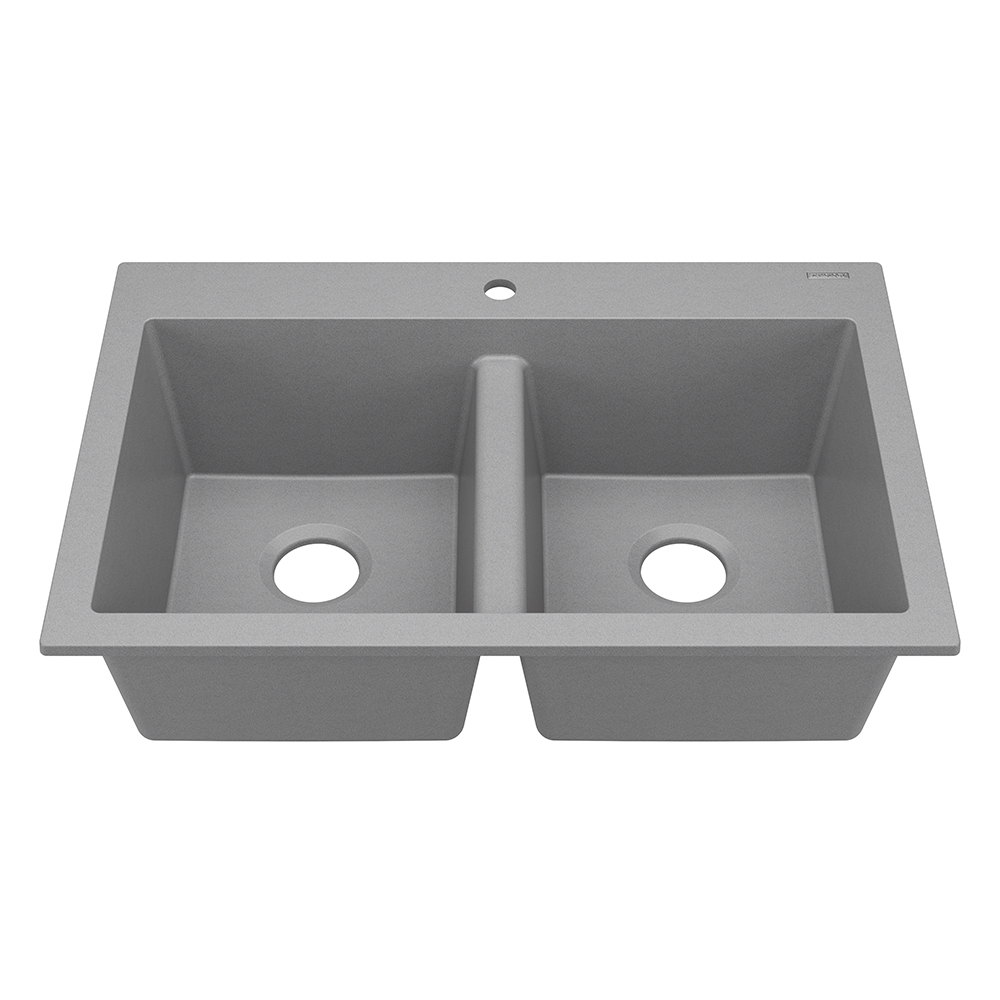 Sinkology Whitney Double Bowl Granite Composite Kitchen Sink In