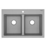 top photo sinkology gray kitchen sink