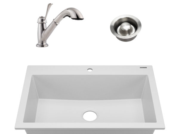sinkology granite composite kitchen sink kit