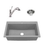 sinkology granite composite kitchen sink kit with drain
